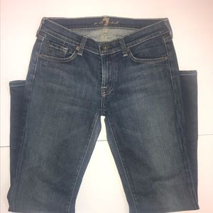 7 For All Mankind Bootcut Jeans Size 29 Dark Wash